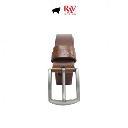 RAV DESIGN Men's 100% Genuine Cow Leather 40MM Pin Buckle Belt |RVB599G1