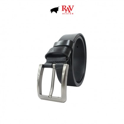 RAV DESIGN Men's 100% Genuine Cow Leather 40MM Pin Buckle Belt  RVB601G1