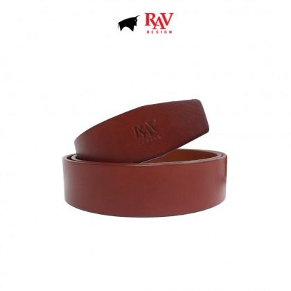 RAV DESIGN Men's 100% Genuine Cow Leather 40MM Pin Buckle Belt |RVB604G1