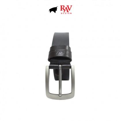 RAV DESIGN Men's 100% Genuine Cow Leather 40MM Pin Buckle Belt  RVB605G1