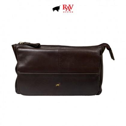 Men's Bundle 1: RAV Design Men's 100% Genuine Leather 40MM Pin Buckle Belt & Clutch Bag |RVB454G1 YRS051G2
