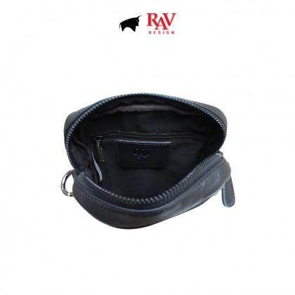 Men's Bundle 4: RAV Design Men's 100% Genuine Leather Anti-RFID Cardholder & Belt Pouch Bag |RVW666G1 RVC426G1