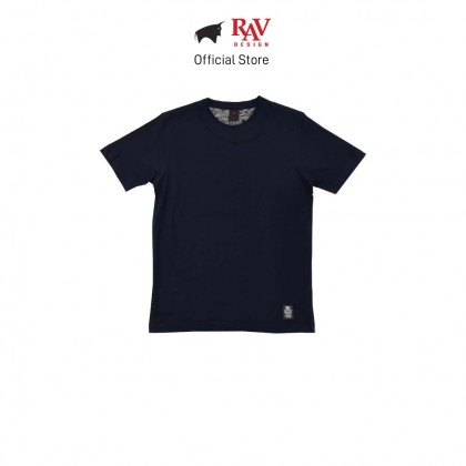 RAV DESIGN 100% Cotton Short Sleeve T-Shirt Navy |RRT29672091