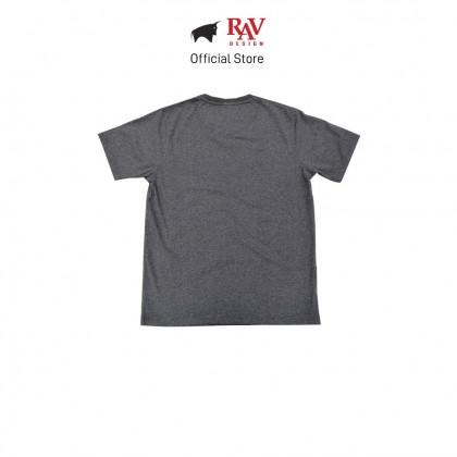 RAV DESIGN 100% Cotton Short Sleeve T-Shirt Dark Melange |RRT29672093