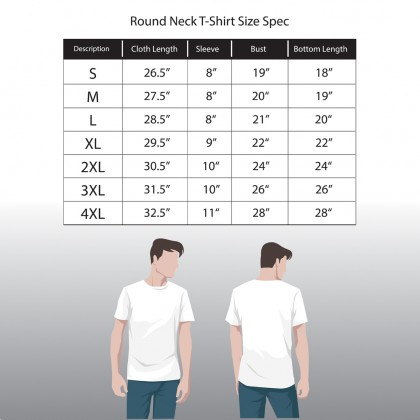 RAV DESIGN 100% Cotton Short Sleeve T-Shirt Blue Melange |RRT29672094
