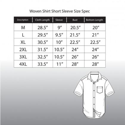Rav Design 100% Cotton Woven Shirt Short Sleeve |RSS28603283